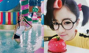 Sao Hàn 26/11: Eun Jung đeo kính ngố, Qri uốn éo khoe dáng