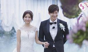 Song Jae Rim không thốt nên lời khi nhìn vợ mặc váy cưới