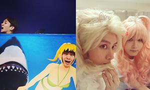 Sao Hàn 30/11: SHINee bị 'cá mập' đuổi, SuJu giả gái long lanh