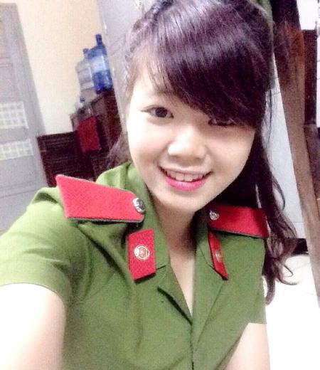 Xinh đẹp, tài năng Nguyễn Thị Ánh Nguyệt (1996) hiện là nữ sinh năm nhất, Học viện Cảnh sát.