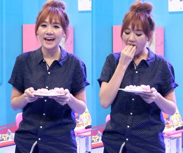 Hari phải đối mặt khó khăn ăn thật nhiều kẹo dẻo và nói được slogan của chương trình.Hàn Quốc là quê hương của Hari nên Hari sẽ cố gắng để có 1 chuyến về thăm Hàn Quốc miễn phí. Fighting!, nữ ca sĩchia sẻ một cách quyết tâm.