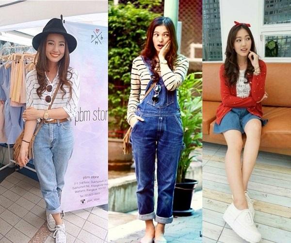 Trang phục đời thường của Bua không quá đắt đỏ, tuy nhiên cô nàng biết cách kết hợp những món đồ bình dân để tạo nên vẻ ngoài thật cá tính, phong cách. Bua được xem như một fashion icon hàng đầu của giới trẻ Thái Lan hiện nay.