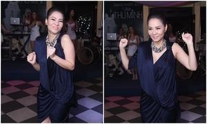 Thu Minh không ngại nhảy nhót dù đang mang thai