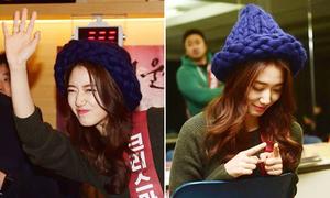 Park Shin Hye nhảy nhót nhí nhố khi đi bán vé xem phim
