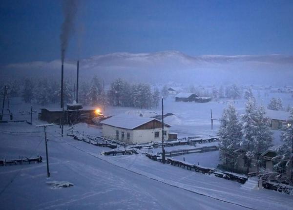 Nhà máy đốt than đá sưởi ấm cho ngôi làng.