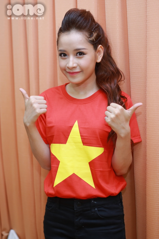 Sau sự cố, Chi Pu vẫn tỏ ra thoải máiTrên trang cá nhân, hot girl vui vẻ chia sẻ: