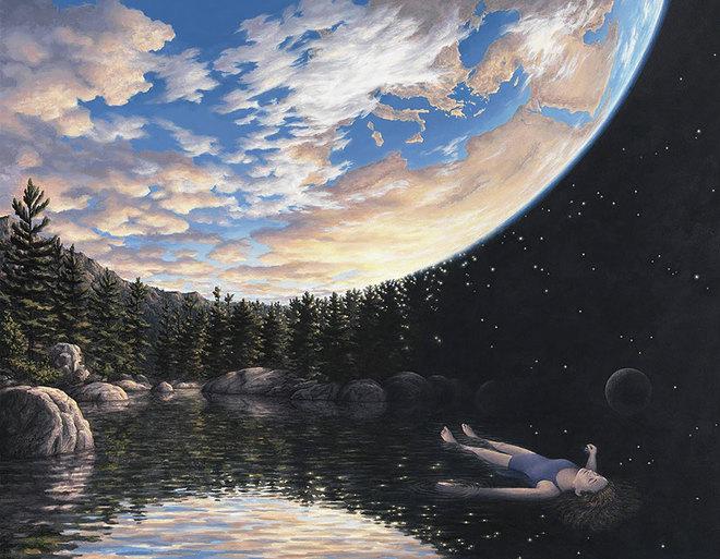 magic realism paintings rob gonsalves 1 1421729843 660x0 Hoa mắt với loạt tranh ma thuật đánh lừa thị giác
