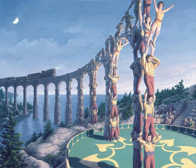 magic realism paintings rob gonsalves 11 1421729846 660x0 Hoa mắt với loạt tranh ma thuật đánh lừa thị giác
