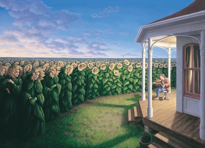 magic realism paintings rob gonsalves 12 1421729847 660x0 Hoa mắt với loạt tranh ma thuật đánh lừa thị giác