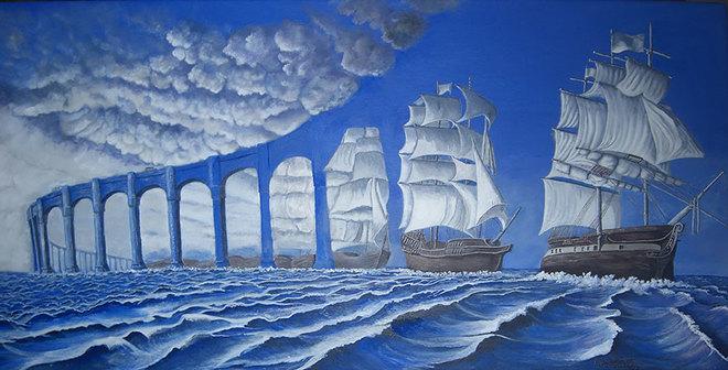 magic realism paintings rob gonsalves 1421729843 660x0 Hoa mắt với loạt tranh ma thuật đánh lừa thị giác