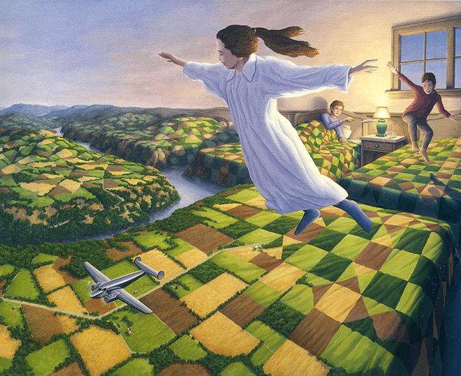 magic realism paintings rob gonsalves 2 1421729844 660x0 Hoa mắt với loạt tranh ma thuật đánh lừa thị giác