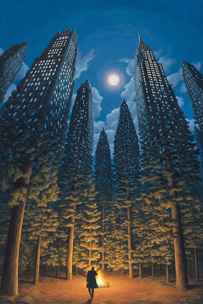 magic realism paintings rob gonsalves 3 1421729844 660x0 Hoa mắt với loạt tranh ma thuật đánh lừa thị giác