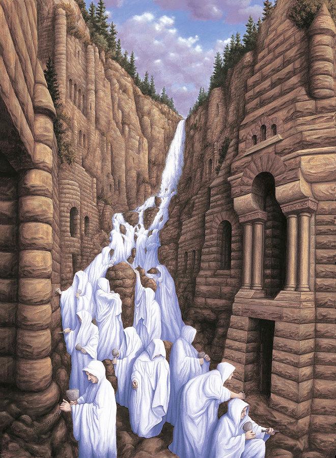 magic realism paintings rob gonsalves 6 1421729845 660x0 Hoa mắt với loạt tranh ma thuật đánh lừa thị giác
