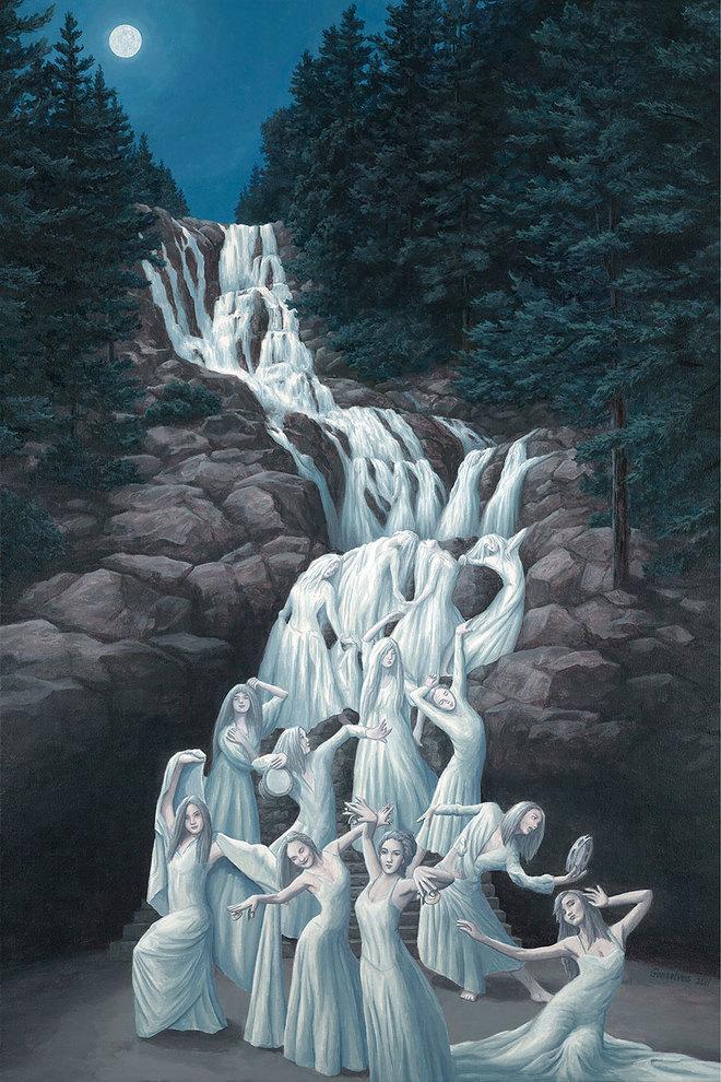 magic realism paintings rob gonsalves 7 1421729845 660x0 Hoa mắt với loạt tranh ma thuật đánh lừa thị giác