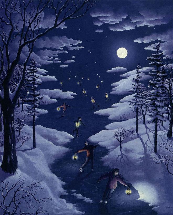 magic realism paintings rob gonsalves 8 1421729846 660x0 Hoa mắt với loạt tranh ma thuật đánh lừa thị giác