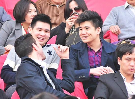 Đỗ Quang Vinh và Đỗ Vinh Quang (phải) là hai quý tử của ông chủ ngành ngân hàng bầu Kiên.