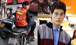Dung mạo điển trai của chàng xe ôm nổi tiếng khắp Thái Lan