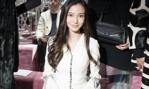 Angelababy dịu dàng như thiên sứ tại Paris Fashion Week