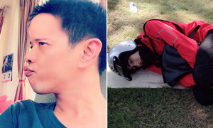 Sao Việt 2/2: Thái Hòa độn trán sưng phồng, Bình An đội mũ bảo hiểm ngủ