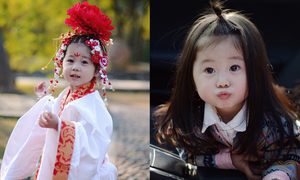 'Tiểu Võ Mị Nương' 2 tuổi mê đảo cộng đồng mạng