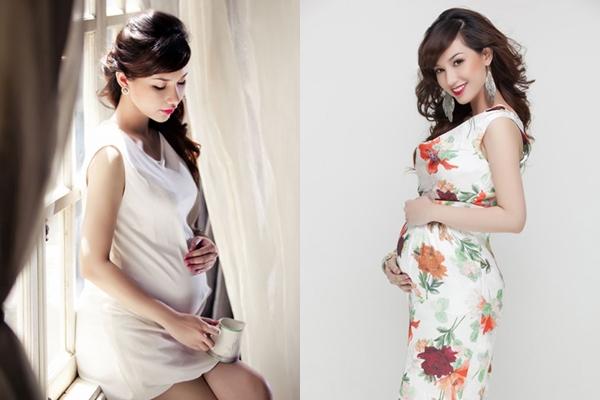 Vẻ đẹp mặn mà của hot girl trong khoảng thời gian bầu bì.