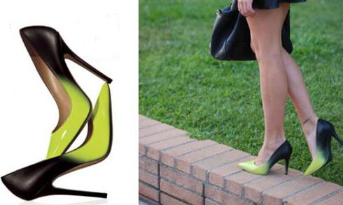 Nổi bật gót xinh với đôi giày ombre