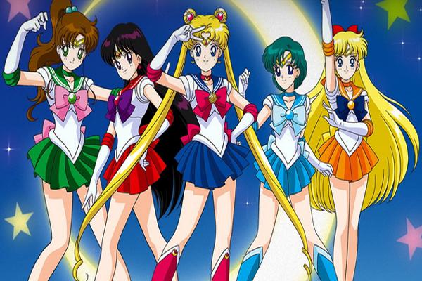 Thủy Thủ Mặt Trăng là một trong những manga nổi tiếng gắn liền với tuổi thơ của nhiều người.  Hình 5. Những nàng thủy thủ xinh đẹp đã trở thành thần tượng của bao cô gái.