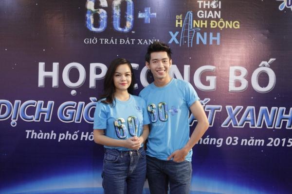 Sáng ngày 14/3, Phạm Quỳnh Anh và Quang Đăng xuất hiện tại buổi họp công bố và Lễ ra quân phát động chiến dịch Giờ Trái đất Xanh 2015 đã diễn ra tại Nhà Văn hóa Thanh niên.