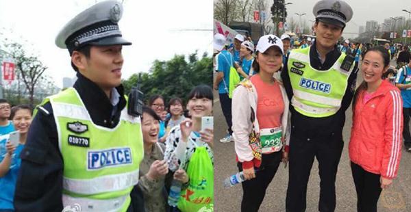 """Fan nữ """"phát cuồng"""" với anh cảnh sát rất giống Hà Dĩ Thâm - Chung Hán Lương."""