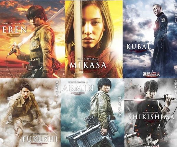 Tạo hình một số nhân vật quan trọng trong bản điện ảnh. Tài tử nhà Amuse - Haruma Miura cùng các diễn viên trẻ khác như Kanata Hongo, Kiko Mizuhara, Shu Watanabe& rất được lòng fan của truyện.