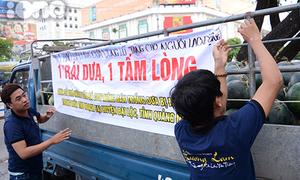 Giới trẻ chung tay kêu gọi mua dưa hấu giúp dân vùng lũ