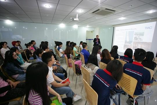 Học sinh Trường CĐ Nghề Việt Mỹ. Ảnh: Website trường.