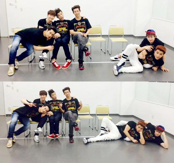 2PM vừa kết thúc đêm concert ở Fukuoka, Nhật Bản. Các chàng trai