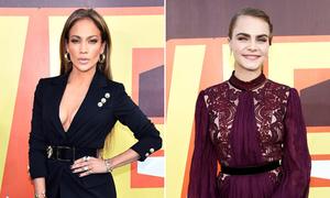 Cara Delevingne già chát, Jennifer Lopez khoe vòng 1 đánh bật sao trẻ