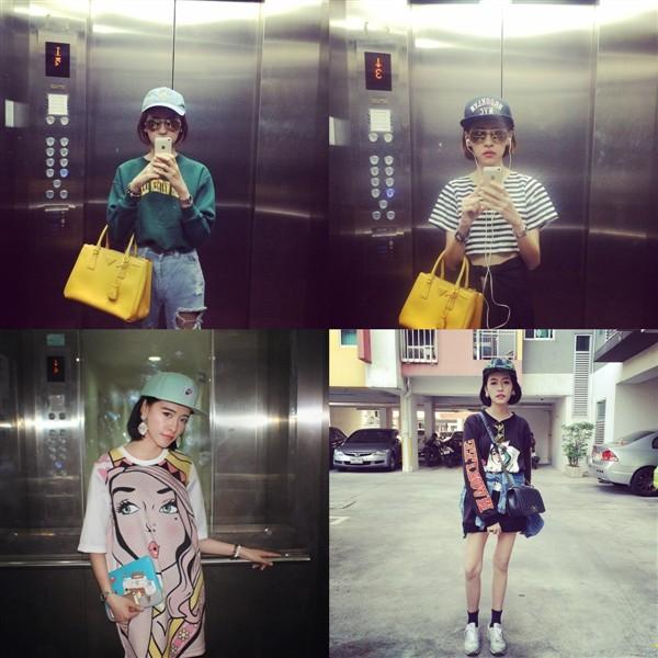 Những bức ảnh của cô nàng trên trang cá nhân nhận được vô số lượng like bởi phong cách thời trang cá tính và sành điệu.