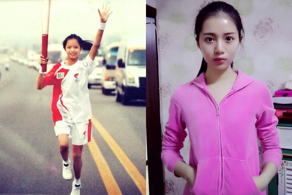 Ngoài ra, Đinh Khả Nhi còn từng là vận động viên nhỏ tuổi nhất được chọn cầm đuốc   chạy marathon trong dịp Thế vận hội tại Bắc Kinh năm 2008.