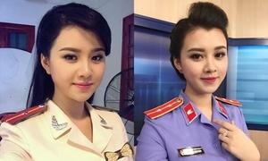 Nữ MC công an xinh đẹp nhìn 'không chớp mắt'