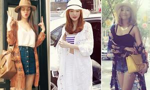 Áo chống nắng mỏng nhẹ, tuyệt xinh của xì ta, hot girl Việt