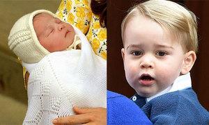 Hình ảnh đầu tiên về tiểu công chúa nước Anh, Hoàng tử nhỏ càng lớn càng bảnh