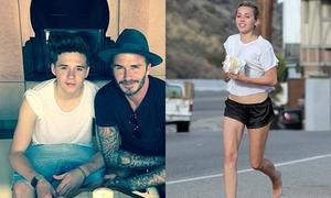 Sao US-UK 4/5: Brooklyn Beckham cực bảnh bên bố, Miley Cyrus khoe chân nuột nà