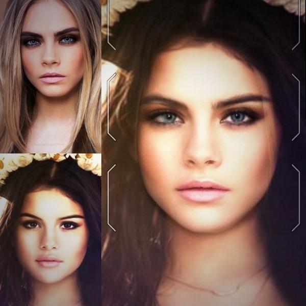 Khuôn mặt xinh đẹp của Selena Gomez và vẻ lạnh lùng của siêu mẫu Cara Delevingne khi phối cùng nhau lại trở nên cực kỳ ấn tượng.