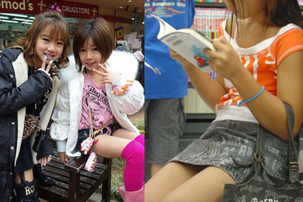 Nhiều ý kiến bình luận trang cãi về phong cách ăn mặc, trang điểm như người lớn của nữ   sinh tiểu học, trung học cơ sở ở Nhật Bản. Trước đó, hình ảnh em gái cấp một mặc quần   short, váy bó ngắn ra đường được đăng tải trên mạng xã hội Nhật khiến nhiều người giật   mình.