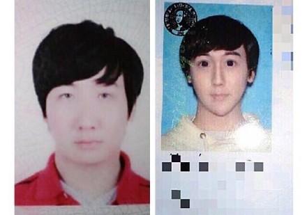 Lưu Tử Thần từ  gương mặt khá điển trai (trái) trở nên kỳ dị.