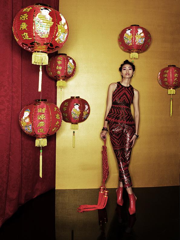 Trang Khiếu vừa khoe bộ ảnh chụp chotạp chí Diva e Donna.