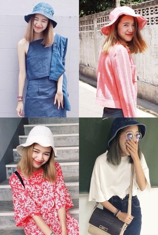 Đón đầu xu hướng thời trang, nhiều hot girl Thái Lan nhanh chóng sắm cho mình những chiếc mũ tai bèo ngộ nghĩnh. Những hình ảnh cô nàng hot girl Van Mallinee đội mũ tai bèo tạo hình ngộ nghĩnh đã thu hút hàng nghìn lượt like trên mạng xã hội.