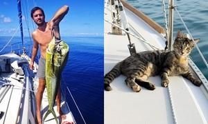 Cặp đôi bỏ việc, bán sạch tài sản, chu du thế giới với mèo cưng