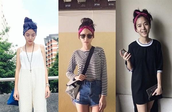 Cô nàng đặc biệt ưa thích những chiếc khăn turban siêu dễ thương. Cách mix chiếc khăn cùng nhiều style khác biệt luôn giúp Baitoei trẻ trung và năng động.