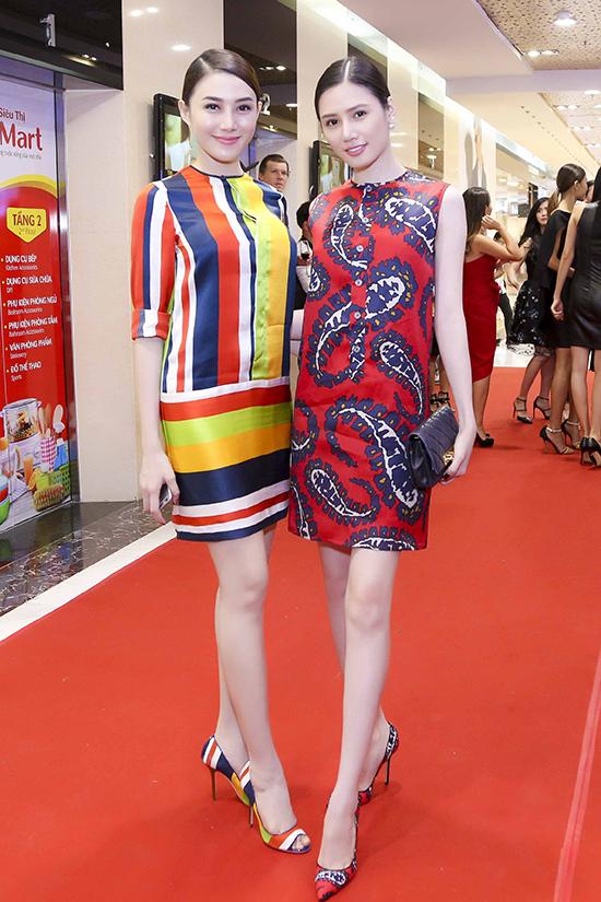 đẹp Lê Hà và Tương Vy lại chọn phong cách nhẹ nhàng trong 2 mẫu thiết kế xuân hè của thương hiệu nổi tiếng Dsquared