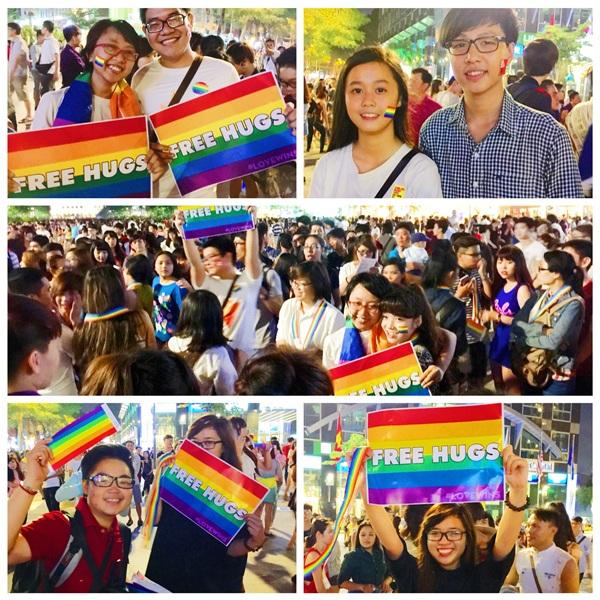 Những bạn trẻ không ngần ngại khẳng định về bản thân bằng những nụ cười tươi tắn và đầy hãnh diện trong ngày Proud Day.