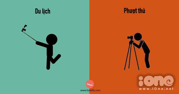 Đi du lịch lúc nào cũng mang theo gậy selfie, trong khi đi phượt luôn lỉnh kỉnh máy ảnh để